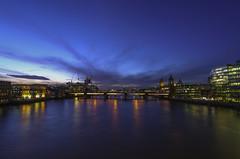 london bridge looking west (benny-boy_84) Tags: london longexposure canon londonbridge riverthames thames river trails cityscape dusk efs eos