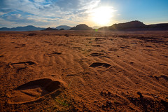 Following the camels (maciej_urbanowicz) Tags: jordan wadirum desert camel footprint track tracking travel travelphotography travelphoto adventure sunset wideangle wide wideview nature wild wildness landscape