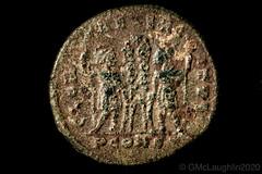 Roman coin - Emperor Constantine I (GWMcLaughlin) Tags: 70d canon constantine constantinei constantinethegreat nikon nikon50mmf2 nikonlenscanoncamera roman ancient closeup coin lens macro reverse