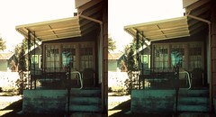Batch G 0134 (dizzygum) Tags: vintage 3d stereo slide image 1959 house exterior