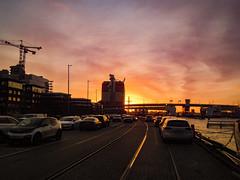 Sunset (Rudi Pauwels) Tags: 100x2020 image9100 goteborg gothenburg sverige sweden schweden gullbergskajen lillabommen gothiariver