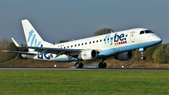 G-FBJA (AnDyMHoLdEn) Tags: flybe embraer egcc airport manchester manchesterairport 05r