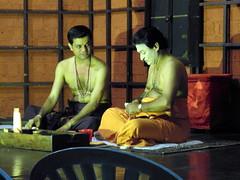 kathakali actors (kexi) Tags: kochi cochin kerala india asia kathakali actors performers traditional theatre art 2 two pair couple men talking conversation samsung wb690 february 2017 instantfave