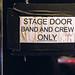 Sign Door Sign Stage Door Edited 2020
