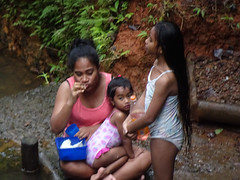 Eating with the Kids (mikecogh) Tags: colisuva forest rockpool mother lunch eating kids children edge