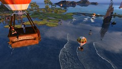 Scouts Ballooning (cadeSL) Tags: sl secondlife second life virtual world rp roleplay role play scouts exploring hot air balloon trip scenery sea ship spray ocean waves sky sailing boys