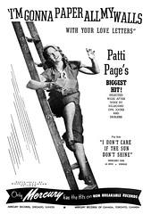 1950 patti page (Al Q) Tags: records patti page mercury paper walls