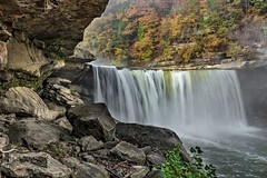 The Cumberland Falls (somewheredowntheroadphoto) Tags: waterfalls waterfall light color water fall season seasons colorful flowing flow river stream current