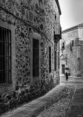 Cáceres (Joaquín Mª Crespo) Tags: byn blackwhite bw blancoynegro streetphoto street oldtown monocromo monuments
