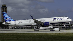 N2038J_FLL_Landing_10R (MAB757200) Tags: jetblueairways a321271nx n2038j awholeblueworld aircraft airplane airlines airport airbus jetliner fll kfll fortlauderdalehollywoodinternationalairport landing runway10r nikon