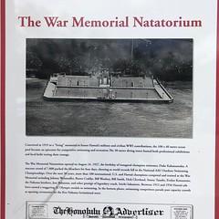 War Memorial Natatorium (jericl cat) Tags: war memorial natatorium 1927 wwi closed sign history nhm landmark monument hawaii oahu waikiki 2019 thanksgiving