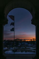 'Morning has broken'...view out the window at Bay City Hall, Michigan (TAC.Photography) Tags: baycityhall sunrise d7500 2020