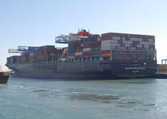 Seaspan Brightness (jelpics) Tags: seaspanbrightness containership crane cranes conleyterminal cargoship merchantship boat boston bostonharbor bostonma harbor massachusetts massport ocean port sea ship vessel