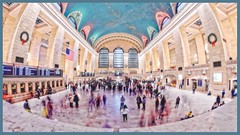 Grand Central Terminal - New York, NY (oscarpetefan) Tags: oscarpetefan newyorkcity nikon d500 urban wideangle dxo11 on1pics on1photoraw fisheye rokinon samyang grandcentralterminal meetup slowshutter filmsimulation kodachrome25