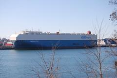 Emerald Ace (jelpics) Tags: emeraldace hybrid bostonautoport carcarrier roro solar cargoship merchantship boat boston bostonharbor bostonma harbor massachusetts massport ocean port sea ship vessel