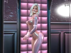 Dollbox :: Door Open (Cherie Langer) Tags: dollbox doll dolly bdsm ds latex heels fantasy bondage blonde