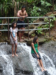 Sitting in  Waterfall (mikecogh) Tags: colisuva waterfall rockpool girls enjoyment relaxing water flow