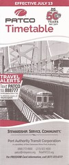 PATCO timetable - July 13, 2019 (By Air, Land and Sea) Tags: timetable schedule rail railway railroad train transit patco pennsylvania newjersey philadelphia commuter suburban