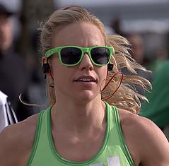 Lime Green Color Scheme (Scott 97006) Tags: woman blonde female lady beauty sunglasses racing cute