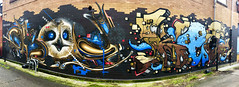 Nightlines by Dkoy1 & Keger1 (wiredforlego) Tags: graffiti mural streetart urbanart aerosolart publicart tacoma washington seatac dkoy1 keger1