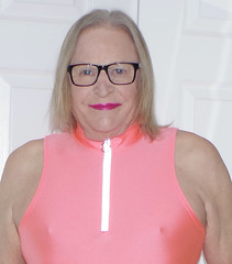 Just Donna in the pink! (donnacd) Tags: legs feet heels toes sissy tgirl tgurl slut codpiece dressing crossdress crossdresser cd travesti transgenre xdresser crossdressing feminization tranny tv ts feminized jumpsuit domina blouse satin lingerie touchy feely he she look 易装癖 シー clit u