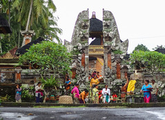 Balinese women outside a temple (Tiket2) Tags: asia asiatravel indonesia travel travelpic travelphoto indonesian amazing stunning tiket2 creativecommons free freephoto attribution tourism tourist exotic tropical temple holy sacred spirit spiritual traditional offering celebration balinese