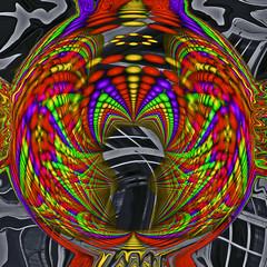 Enter At Your Own Risk (kfocean01) Tags: abstract fractals neon vividart vivid colors photoshop photomanipulation patterns designs netartll awardtree artdigital shockofthenew