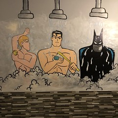 Wang Chung's Karaoke Bar (jericl cat) Tags: hawaii 2019 darin blondie thanksgiving shower showers batman robin superman naked