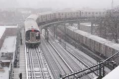 White Out (CrispyBassist) Tags: railroad railway train track transit subway elevated newyork newyorkcity newyorkcitysubway newyorkcitytransit nyc nyct nycta brooklyn jamaicaline