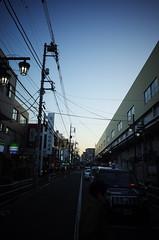 After Sunset (ademilo) Tags: street streetphotography streetlight sky sunset sunlight sunshine shadows shadow skyscape city cityscape citylife contrast tokyo town townscape transportation japan gr gr2