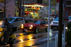 (Lachlan O) Tags: car cars traffic tokyo japan lights headlights street afternoon toyota celica celicasupra supra