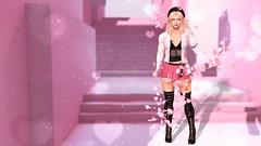 Pink & Pretty (terraclaremont) Tags: pink pretty stairs bokeh blonde cute petals breeze swirl