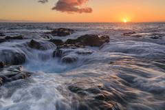 Silky Pele's Well (mirmid2012) Tags: peles well lava tube blowhole blow hole ocean kona hawaii sunset coast waves tide bigisland peleswell