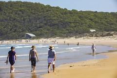 One Mile Summer (vk2gwk - Henk T) Tags: onemilebeach beach ocean walking summer nsw australia