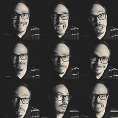 Day 21 : All The Feels (Randomographer) Tags: project365 366 emotion human man face portrait self selfie layered glasses monotone montage black white monochrome nine photoaday 21 265 viii 2020 me
