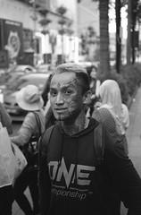 Aaron, the tattoo face (A N O L O G I . M A L A Y A) Tags: agfa expiredfilm leicam6 leica hc110 selfdeveloped agfaapx100pulled50asa bnw streetphotography street keepfilmalive analogphotography analog filmphotography filmisnotdead film
