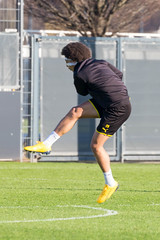 Belgian midfielder Axel Witsel in action during the Borussia Dortmund training (verchmarco) Tags: bundesliga training borussiadortmund fussball bvb 2020 soccer fusball man mann football competition wettbewerb actionenergy aktionsenergie exercise übung ball stadium stadion sport adolescent jugendlicher adult erwachsene outfit fun spas boy junge effort anstrengung appoint ernennen match spiel outdoors drausen foot fus woman frau 2019 2021 2022 2023 2024 2025