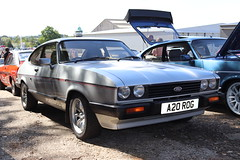 Ford Capri 2.8 Injection A20ROG (Andrew 2.8i) Tags: injection special 28 2800 cologne v6 mk3 mk 3 iii mark liftback hatchback hatch coupe sportscar sports ford capri show uk surrey weybridge track circuit brooklands 50th anniversary a20rog