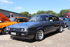 Ford Capri 2.8 Injection (2.0 Cosworth) B16NYK (Andrew 2.8i) Tags: injection special 28 2800 cologne v6 mk3 mk 3 iii mark liftback hatchback hatch coupe sportscar sports ford capri show uk surrey weybridge track circuit brooklands 50th anniversary b16nyk