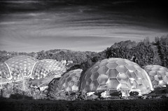 Mars Colony (Christian Hacker) Tags: edenproject cornwall biomes domes blackandwhite bw dramatic uk architecture canon eos50d tamron 1750mm dome greenhouse