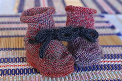Booties for C's Baby (Winam) Tags: knitting kingsgrove nsw