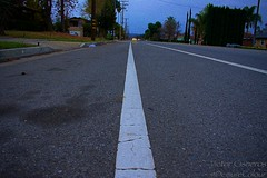 Walk The Line (DemureColour) Tags: street portrait urban beautiful portraits wow photography amazing pretty earth calm trees houses house tree brick lines wall clouds yard square landscape cloudy squares bricks cement line walls sky skies linear