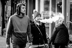 Puff (STREET2020) Tags: candid canoneos750d citylife edinburgh edinburghstreetphotography fashion hat people places royalmile scotland street streetphotography streetportrait style vaping
