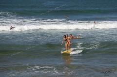dual surfing (Frank G Cornish) Tags: hi surfing board north shore oahu pacific ocean sports women