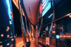 IMG06659-inst-glow (whitesummer88) Tags: sony sonya7 twilight city sonyphoto sonyphotorussia darkness red russia electric future cityscapes moscow street nightlights light lights neon cyberpunk reflection colorful москва