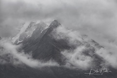 Moody Mountains (Beth Wode Photography) Tags: newzealand queenstown glenorchy moutains toothpeaks rain rainclouds mist lowcloud cloudymountains beth wode bethwode bw blackandwhite
