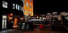 "The ""Old Thameside Inn"" Pickfords Wharf. Clink Street. London. S.E.1. UK (standhisround) Tags: publichouse pub inn tavern building oldthamesideinn lights night signs london thames river riverthames england uk southwark"