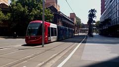 A quiet trip (Dylan_Bennett) Tags: sydney nsw australia sydneylightrail lightrail urbos3 paddysmarkets sydneycbd transdevnsw