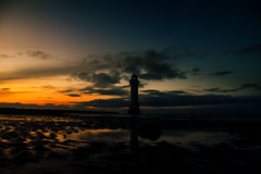 Low angle: New Brighton (Tony Shertila) Tags: england sky lighthouse clouds europe britain outdoor wintersolstice wirral newbrighton perchrock ©2019tonysherratt sunset 20191221170052
