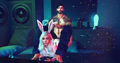 What The... ([E}mber) Tags: alpha bunny tattoo secondlife second life gaming gamer cute edit blue male female couple funny sweet beautiful